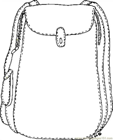 backpack template coloring pages backpack education gt school free