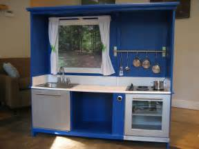 Play Kitchen Ideas Regifter S Bible Entertainment Center Turned Play Kitchen
