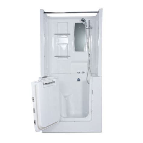 therapeutic bathtub mesa 42 quot x 31 quot air jetted walk in bathtub with shower top enclosure wayfair