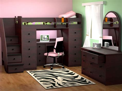 save space bed loft bed with desk underneath kids furniture ideas