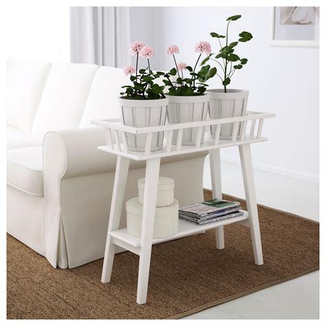 ikea lantliv plant stand white garden corner rack indoor