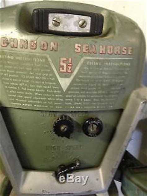 Tas Outboard Motor 2 5 Hp vintage johnson outboard motor 5 1 2 hp 1953 1954 model cd10