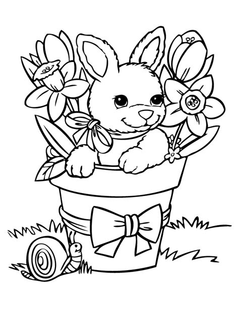 easter coloring pages with puppies lapin de p 226 ques 224 colorier coloriages pour les enfants