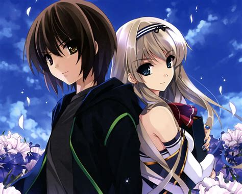 anime couple image cute anime couple wallpapers wallpaper cave