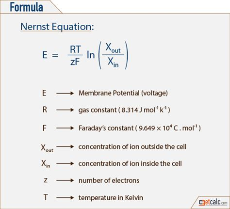 nernst equation calculator