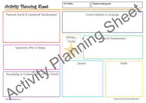 Idea Sheet Template by Activity Planning Pack Mindingkids