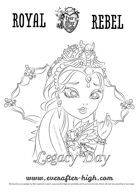 ever after high coloring pages legacy day legacy day raven queen coloring page ever after high