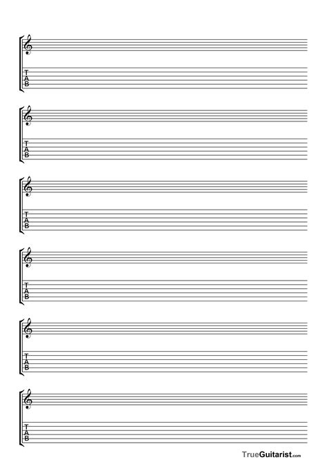 printable tabs template guitar sheet guitar tab downloads books musicnotes