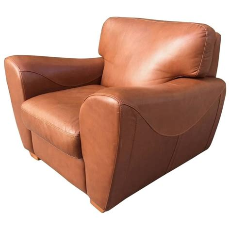 oversize italian leather club chair  sale  stdibs
