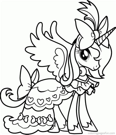 My Little Pony Princess Cadence Coloring Pages Many