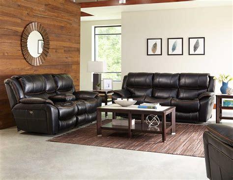 www catnapper catnapper beckett reclining sofa set black cn 4511 sofa