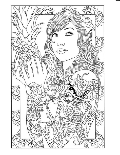 tattoo coloring pages designs dover design coloring books