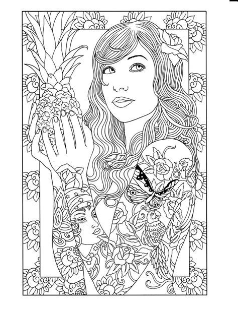 1000 Images About Tattoo Para Colorir On Pinterest Old Time Childrens Fashions Coloring Book Dover