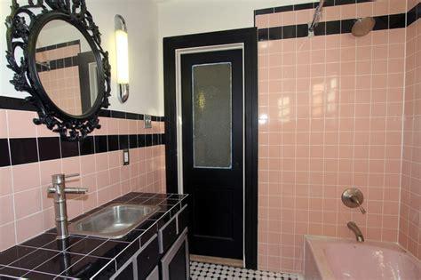 retro pink bathroom midcentury bathroom  york