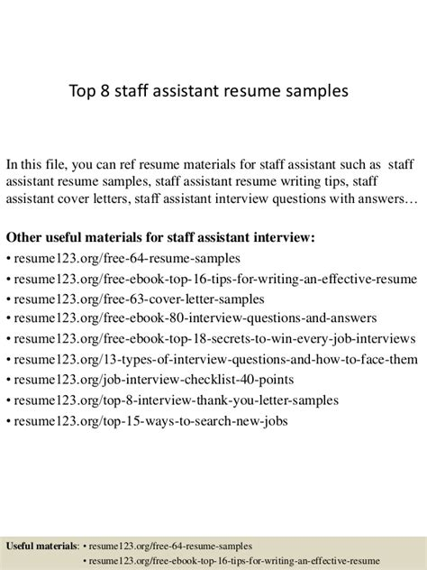 Staff Assistant Resume by Staff Assistant Resume Resume Ideas