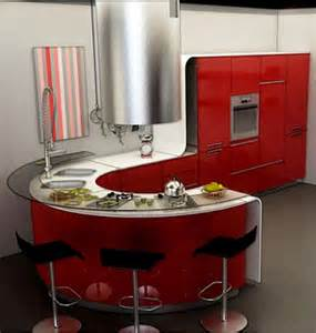 Red And Yellow Kitchen Ideas Round Kitchen Island Round Kitchen Island Ideas Red And