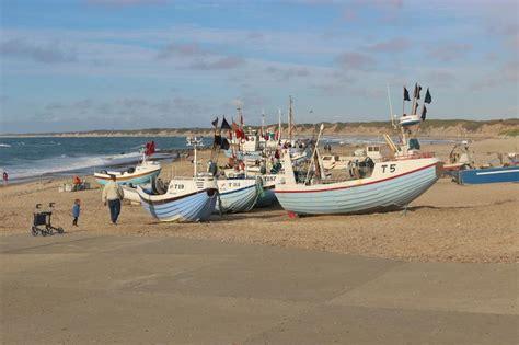 boat license denmark fishing boats on the beach denmark europe editorial