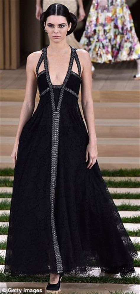 Catwalk To Carpet Julianne by Julianne Dons Beautiful Black Chanel Gown For The