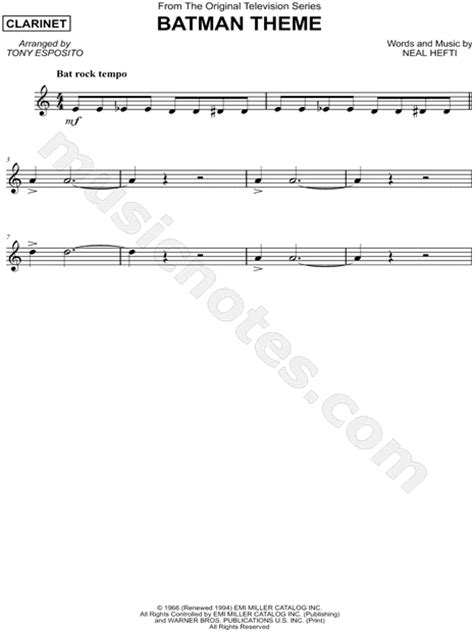How To Play The Office Theme Song by Quot Batman Theme Quot From Batman Tv Series Sheet