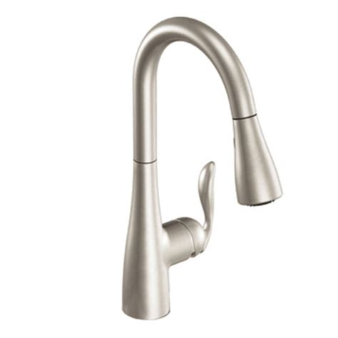 single handle pulldown kitchen faucet moen 7594srs arbor single handle hole pull down kitchen