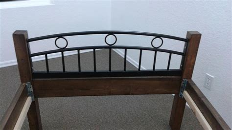 Cast Iron Single Bed Frame Single Bed Frame Made Of Solid Heavy Wood And Cast Iron Look And Foot Board Central Nanaimo