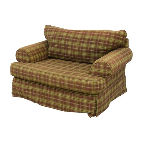 green and loveseat 75 klaussner klaussner green and beige plaid