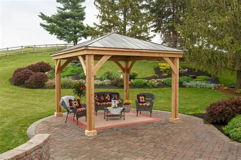wooden pavilion kits for your backyard yardcraft