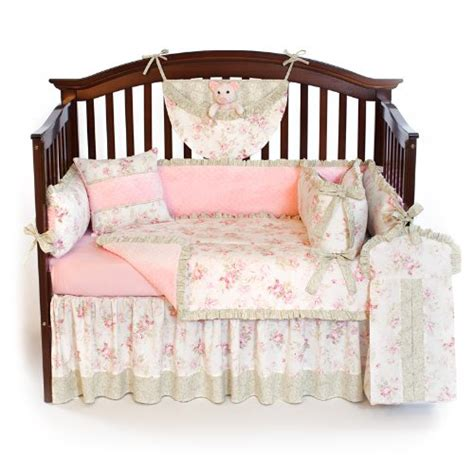 shabby chic bedding custom boutique baby bedding shabby chic sage 5 pc crib bedding set
