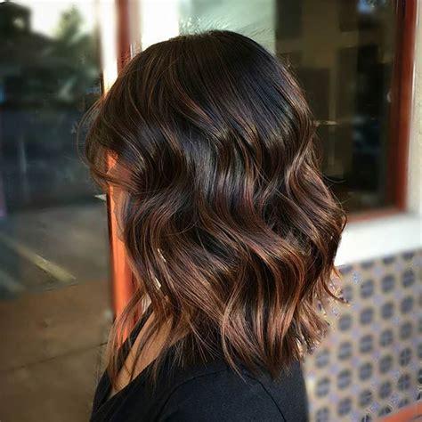 darl hair lob 21 cute lob haircuts for this summer wavy lob brown