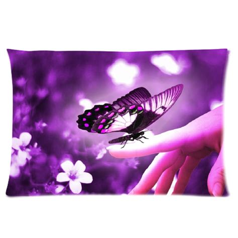 Purple Butterfly Pillow by Purple Butterfly Rectangle Pillow Rectangle Pillow