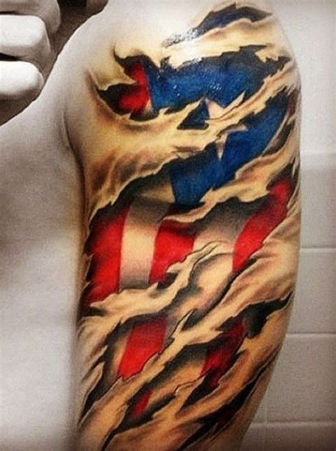 tattoo hours shoulder 55 heroic american flag tattoos