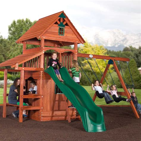 playworld swing set backyard adventures classic series wooden playsets