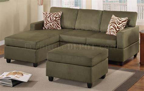 sage microfiber sofa sage microfiber transitional small sectional sofa w ottoman