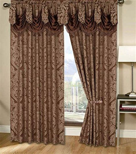 chocolate curtains with valance window treatments luxury and brown on pinterest
