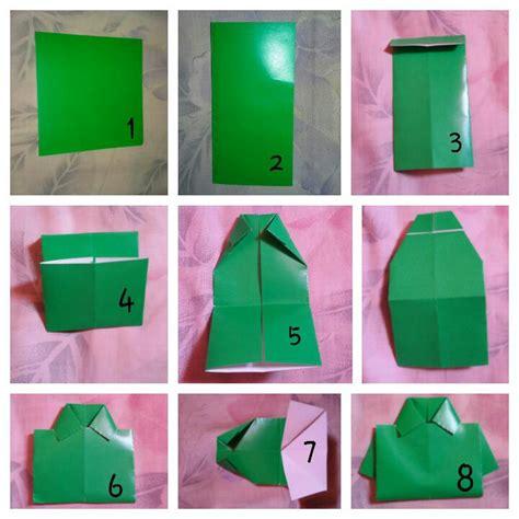 cara membuat origami baju kemeja tutorial origami kemeja