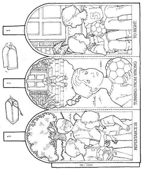 lds coloring pages repentance sharing time repentance turning from wrong to right