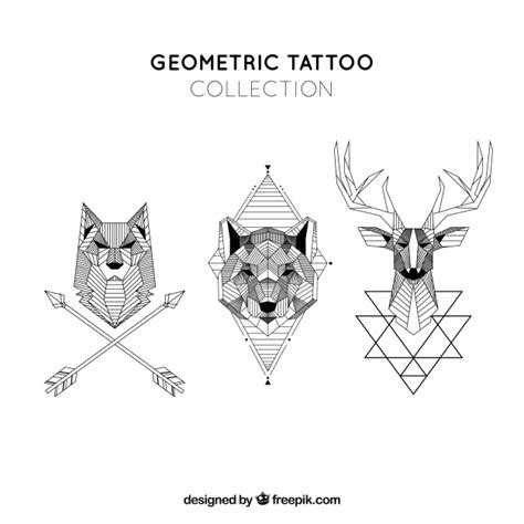 geometric tattoo vector geometric animals tattoo collection vector free download