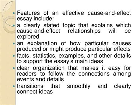 Effect Of Essay by Cause And Effect Essay Writing