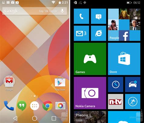 windows 8 1 for android android l vs windows phone 8 1 guess who s catching up