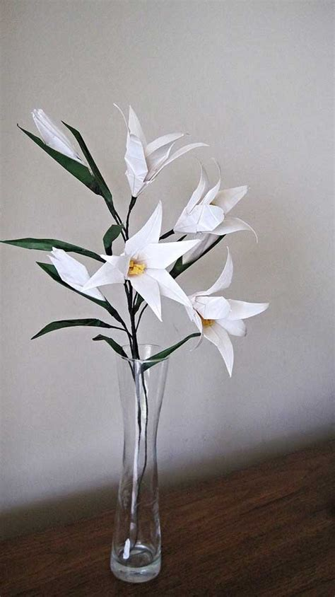 Origami Lilies - easter origami flower bouquet graceincrease custom