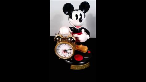 disney mickey mouse talking animated alarm clock