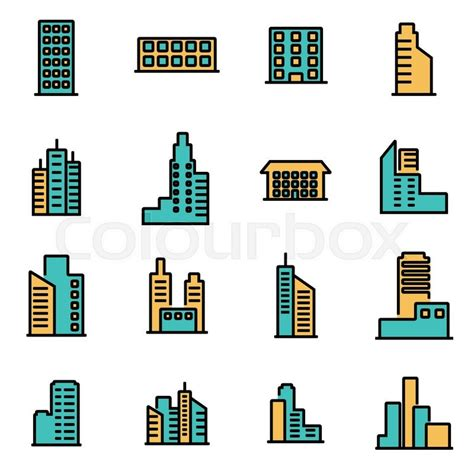 icon design build trendy flat line icon pack for designers and developers