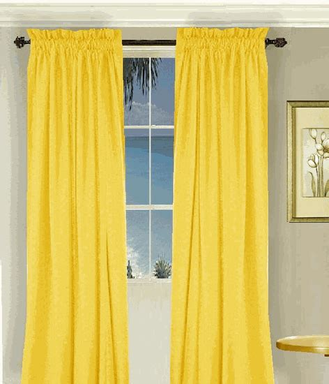 Yellow Cotton Curtains Solid Golden Yellow Cotton Curtains Lined Or Unlined