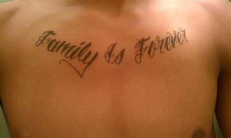 family chest tattoos for men family is forever chest for tattooshunt