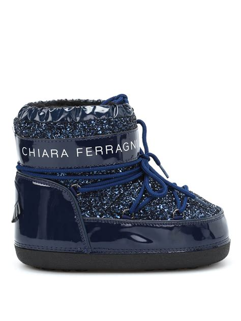 chiara ferragni glitter boots glittered mid moon boots by chiara ferragni boots ikrix