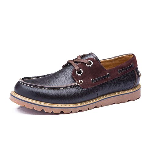 Handmade Boat Shoes - 2016 fashion style genuine leather boat shoes