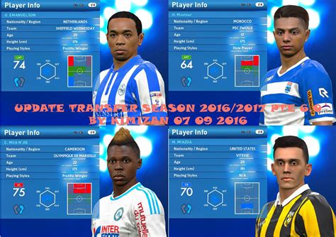 Pes 2017 Pte Patch 6 0 Pc update transfer season 2016 17 pes 2016 pte patch 6 0 by