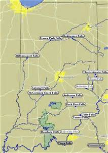 map of indiana waterfalls