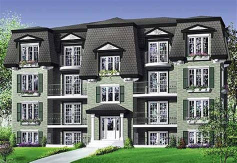 family home plans multi family house plans e architectural design