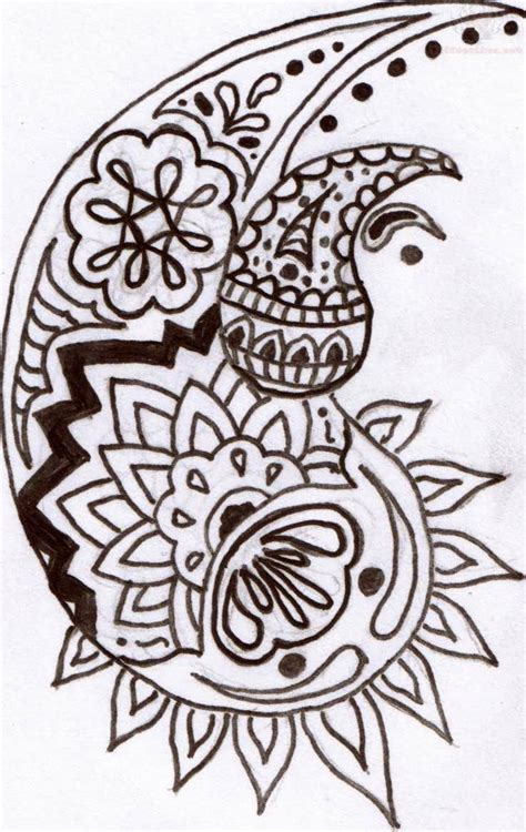 paisley print tattoo designs beautiful paisley pattern design